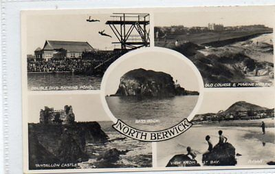"""""postcard Multiview North Berwick,scotland"""""
