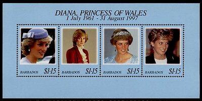 Barbados 950 MNH Princess Diana