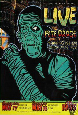 LIVE POSTER Pete Droge Thinking Fellows ORIGINAL Bill Graham BGP CHUCK SPERRY