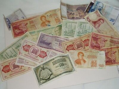 20 x WORLD CURRENCY OLD  BANK NOTES....research needed