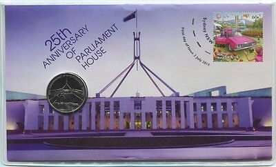 2013 Parliament House 25th Anniversary - PNC Coin & Stamp Pack