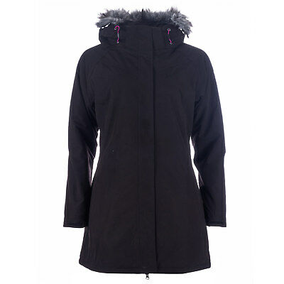 Womens Trespass San Fran Waterproof Parka Jacket In Black From Get The Label