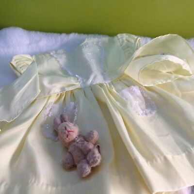 Authentic Vintage Baby infants Girls Childrens  Dress unused 1970s 6/9m