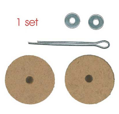 40mm Wooden Animal Cotter Pin Joints - 5 sets