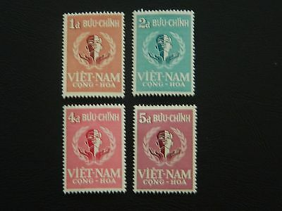 Vietnam Stamps SG S63/S66 set of 4 MNH issued for United Nations Day 1958.
