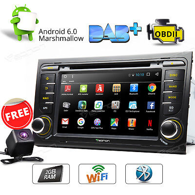 "Indash 7""Android 6.0 2GB RAM Car DVD GPS Navigation for Audi A4/S4 Rear Camera a"