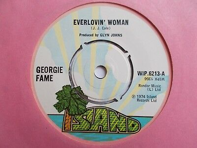 "Mint  Uk  Island - Georgie Fame - ""everlovin' Woman"" / ""that Ol' Rock & Roll"""