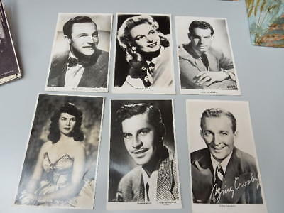 x14 lot of postcards - Actresses / Actors - Crosby / Kelly / Neagle / Laye +++