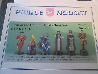 "PRINCE AUGUST `METAL` Field of the Cloth of Gold Chess Set ""HENRY 8th"" Kit 713"