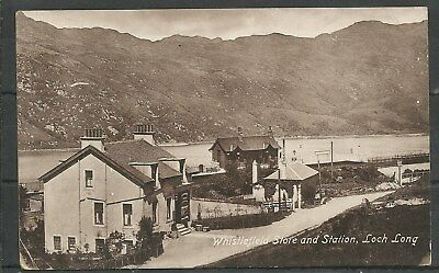 Postcard : Whistlefield Loch Long the Railway Station and Store pu 1913 RP