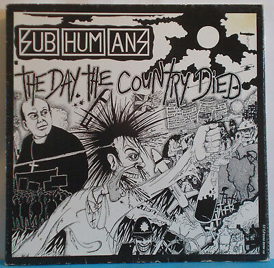 SUBHUMANS The Day The Country Died - UK LP - Bluurg Anarcho Punk DIY