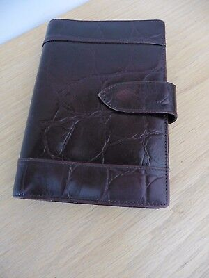 Superb quality rich brown Congo leather Mayland personal organiser in grt condtn