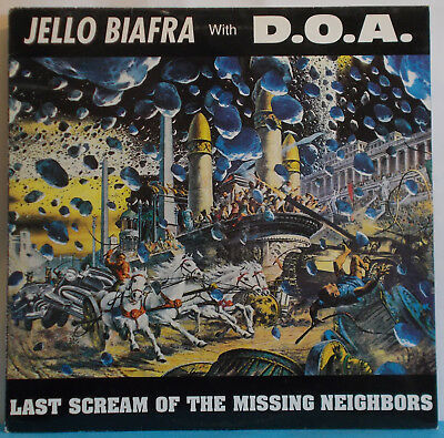 JELLO BIAFRA with D.O.A. Last Scream... Original UK LP - Dead Kennedys Punk DOA