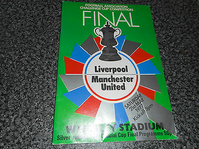 1977 F.A.CUP FINAL :  LIVERPOOL  v  MANCHESTER UNITED @ WEMBLEY - MAY 21st