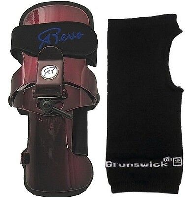 Robbys REVS 2 Bowling Ball Wrist Brace Small - XLarge Left  Handed & Wrist Liner