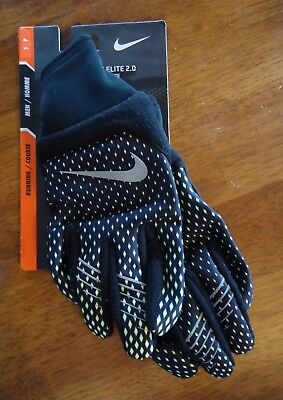 Nwt Nike Therma-Fit Elite 2.0 Run Running Gloves Black Volt Mens Small Large