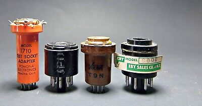 vintage tube tester socket adaptors hickok testers and others