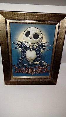 nightmare before christmas picture with frame.5x7