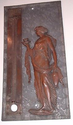 """Antique Decorative Wall Plaque THERMOMETER  """"Charles Wilder Co."""" Troy, NY"""