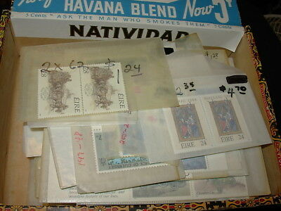Mnh British Modern New Issue Group In Cigar Box-Lots Of Ireland!