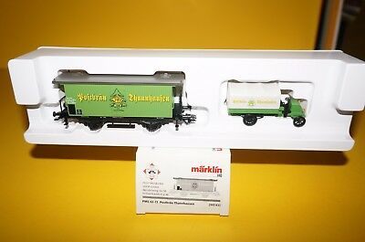 Märklin H0 94142 PMS 62-13 Postbräu Thannhausen Bierwagen-Set in OVP !