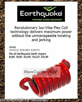 """8980 Earthquake Isovibe Flex Coil Shock Spring Replacement 6"""" to 14"""" Auger Part"""