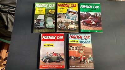 Lot of 5 vintage mini-magazines FOREIGN CAR GUIDE 1960 Nice lot!