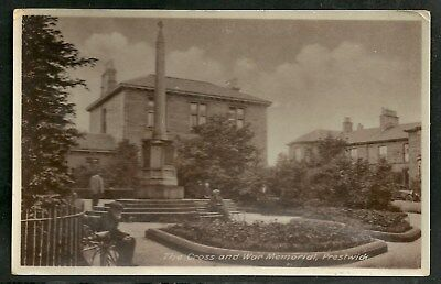 Postcard : Prestwick Ayrshire the War Memorial at the Town Cross RP