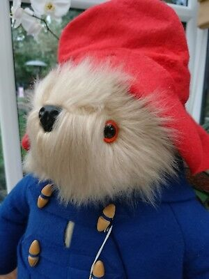 "Genuine Vintage 17"" Michael Bond Paddington Bear Gabrielle Designs & Suitcase"