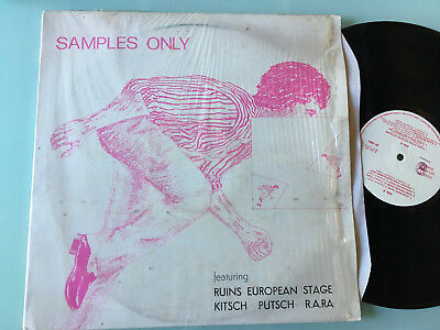 LP 1981  Various ‎– Samples Only -  Ruins Minimal synth