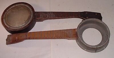 2 Antique Banjo Uke Ukulele Need some Fixin - La Pacific - Werners
