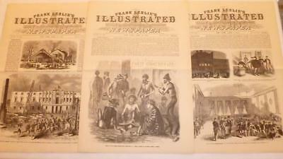 3 Frank Leslie's Illustrated Newspaper 1865 Reissue April 1, 8, 15 Civil War