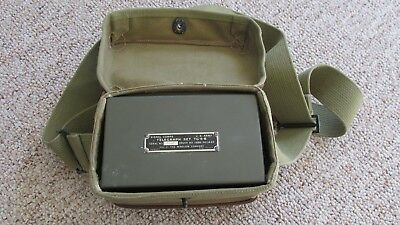 1949 Era U.S. Army Signal Corps Tellegraph Set In Original Case-Never Used-Works
