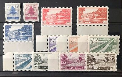 LEBANON 1957 Sc.308-312, C229-235 VERY FINE MINT NEVER HINGED,LANDSCAPES,BRIDGES