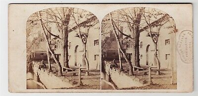 Stereoview-WARWICKSHIRE, Guy's Cliffe, view of the mill by GEORGE RESTALL