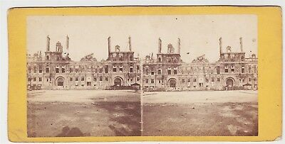 Stereoview-FRANCE, Paris after Prussian War and Commune-Ruins of Hotel de Ville