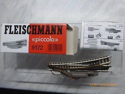 Fleischmann Piccolo 9172 'n' Lefthand Electric Point - New & Boxed