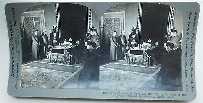 Stereoviews x 3-PAPAL, Views after the death of Pope Leo XIII
