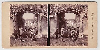 Stereoview-PHOTOGRAPHIC INTEREST, PCUK members at Glastonbury by ALFRED SEAMAN