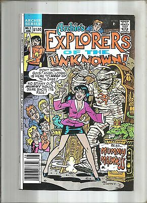 Archie's Explorers Of The Unknown #2 Veronica * Dilton * Betty  1990  Nice!!!