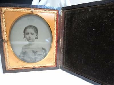 1855 Brady Ambrotype of Pretty Young Woman Sandwiched w/Case Museum Image NR