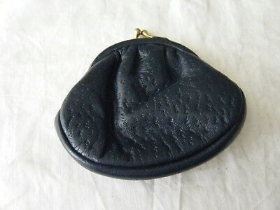 Small Vintage Coin Purse, Navy Blue
