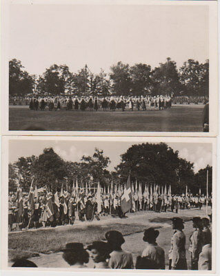 Two Postcards 1939 Girl Guide Pax-Ting International Camp Hungary (b)