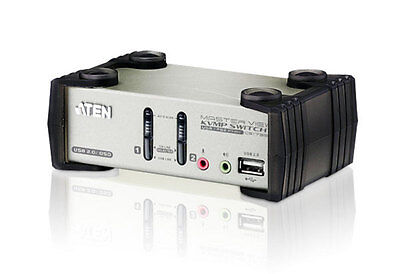 NUOVO ATEN IDATA CS-1732B KVM VGA audio Switch 2 porte USB/PS2 OSD, CS1732B