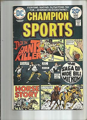 Champion Sports #3  Basketball * Horse Racing  Dc  1974
