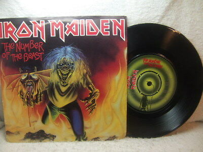 """Iron Maiden – The Number of The Beast 1982 7"""" EMI 5287 PS"""