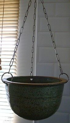 Stoneware Hanging Planter..with 38Cm Chains