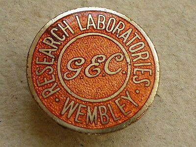 World War Two Home Front G.e.c. Research Laboratories Wembley Workers Badge