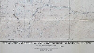 1909 Monarch & Tomichi Colorado Mining District Topographic Map-Mines-Prospects