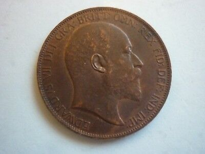 Gt Britain - High Collectable Grade Edward Vii 1902 Penny